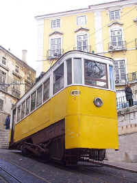 It's an O.K. job, sorta full of ups and downs - the life of a Lisbon funicular driver